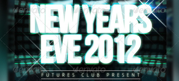 Future NYE - New Years Eve PSD Flyer Template