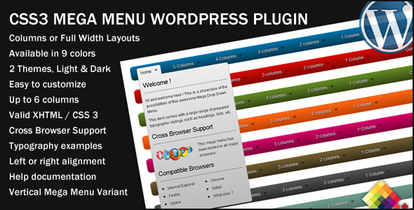 Megamenu wordpress plugin