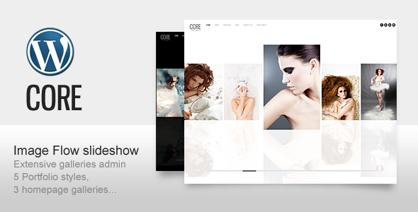 Minimalistic photography wordpress template