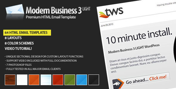 Modern light email template