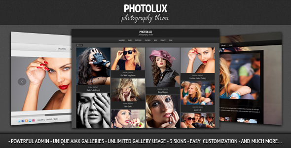 Photolux photography portoflio template