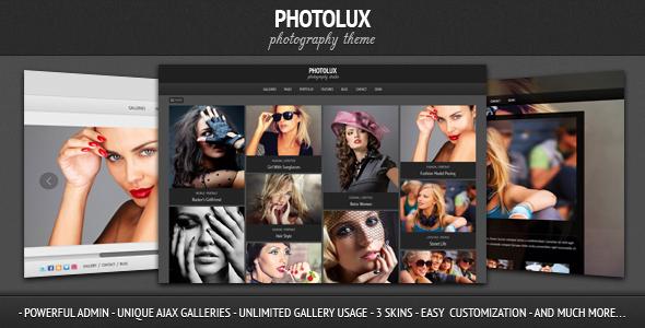 Photolux photography portoflio template