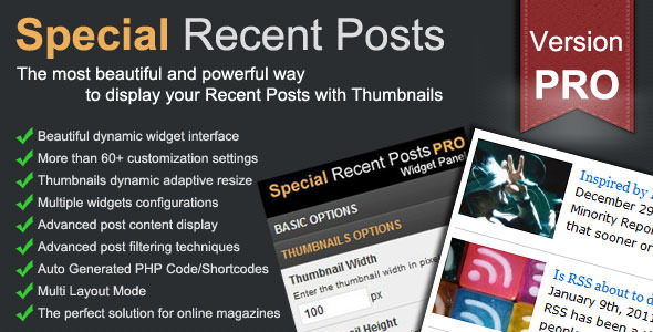 Special recent posts wp -plugin