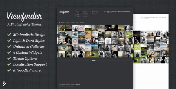viewfinder photography wordpress template