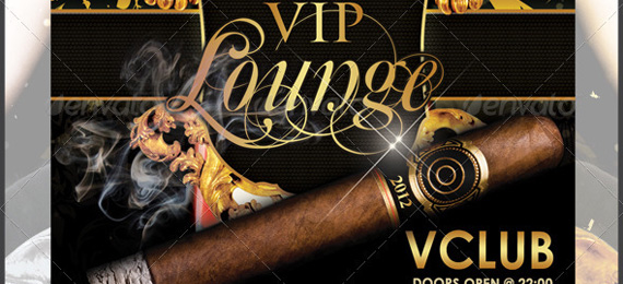 Vintage VIP Lounge New Year's Eve Flyer