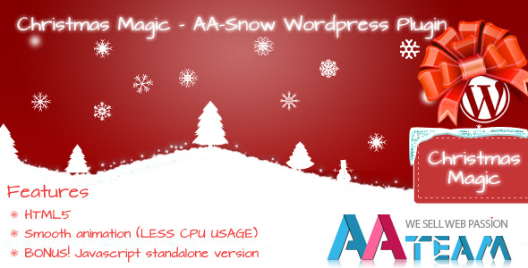 wordpress christmas snow plugin
