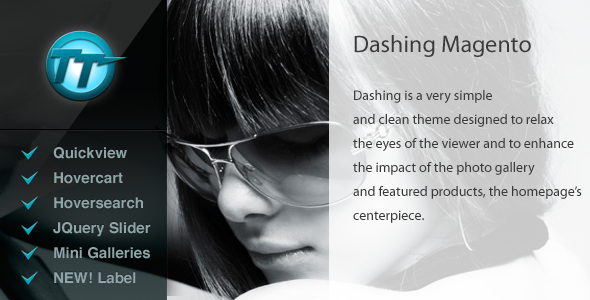 Dashing magento theme