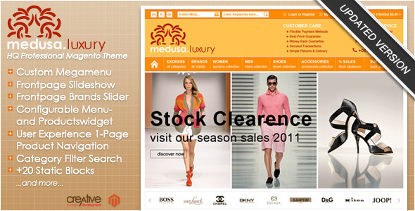 Exdress magento premium theme