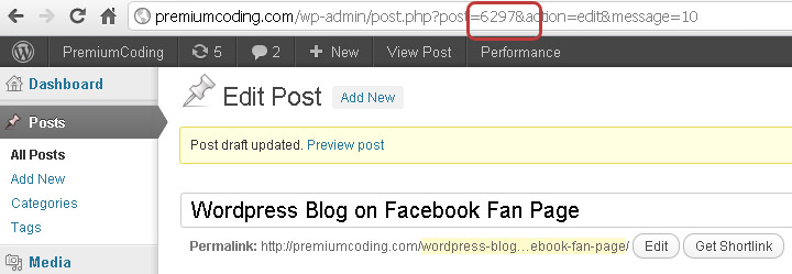 Facebook blog from wordpress custom posts