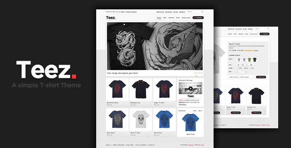 Teez apparel opencart theme