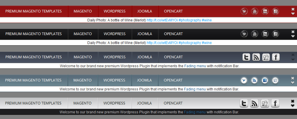 Wordpress fading menu big Menu