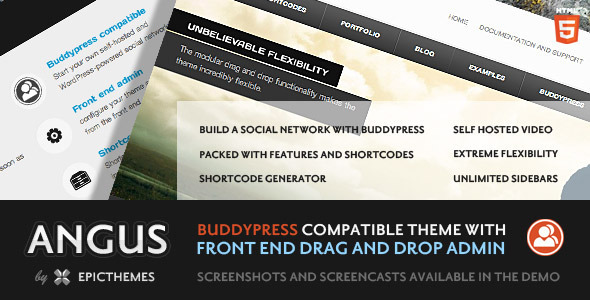 Angus wordpress theme