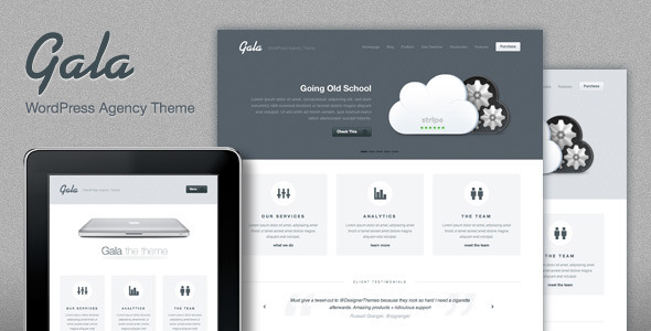Gala Premium Agency WordPress Theme