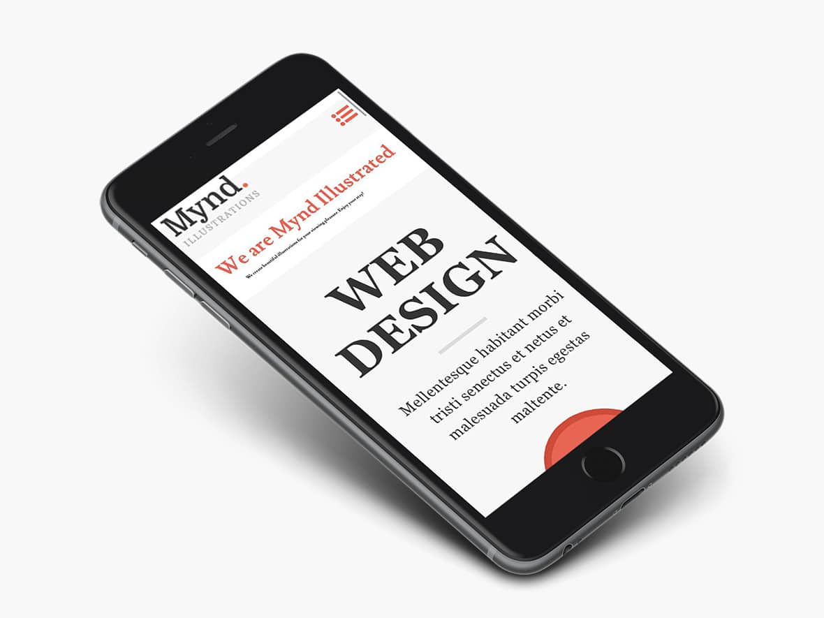 Free WordPress Theme: Mynd Mobile view