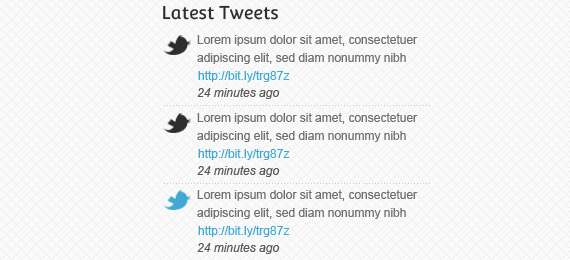 Twitter wordpress widget (psd)