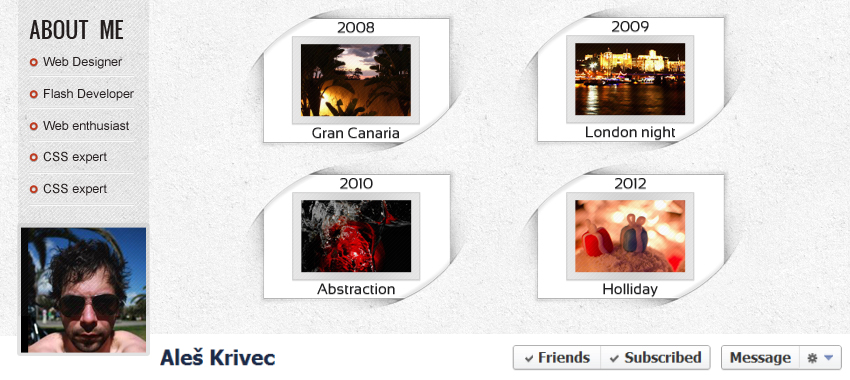 Curvey Facebook Timeline Template