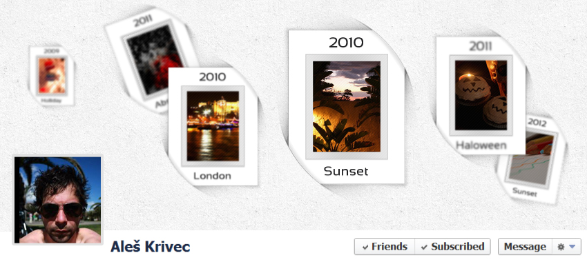 Curvey Facebook Timeline Cover Template Part 2