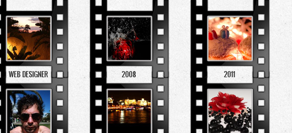 Facebook Timeline Cover Template with Film Strip