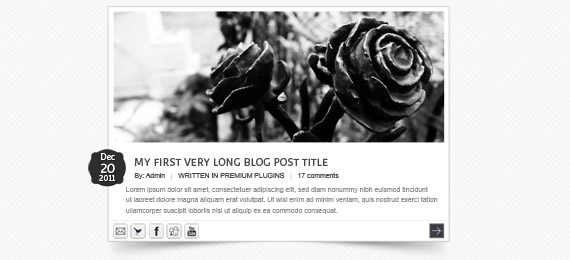 Radial Blog Site Template (PSD)