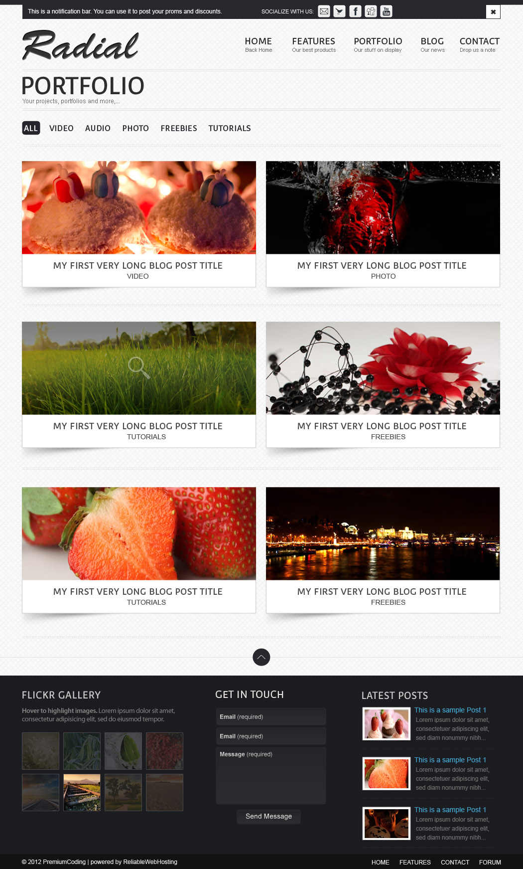 Portfolio Radial Website Template