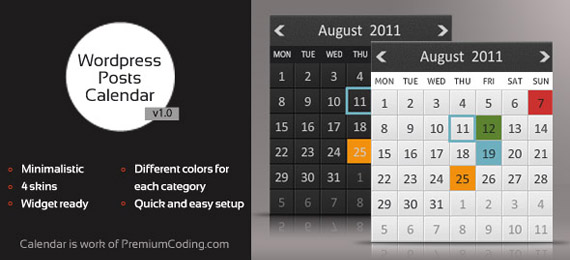 Wordpress Animated Posts Calendar