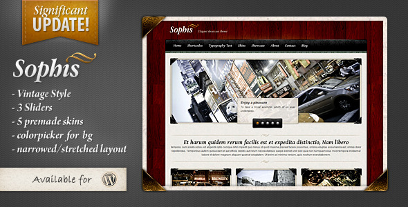 Sophis vintage premium wordpress theme