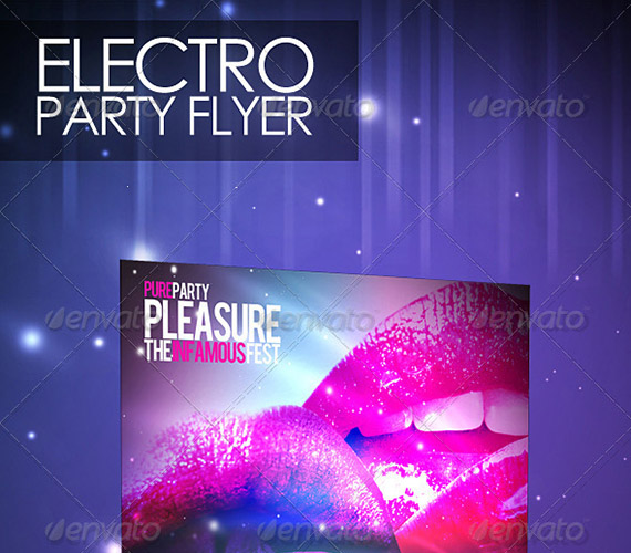 Electro Party Flyer Template