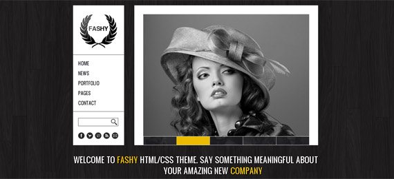 fashy home page wordpress-theme