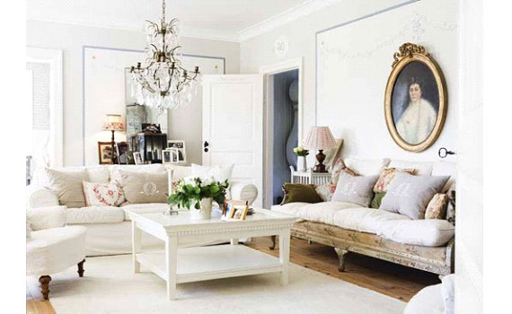 Shabby Chic Apartment Living Room