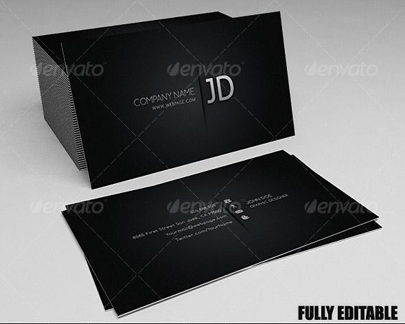 Best print templates premiumcoding blackish business card pack colourmoves