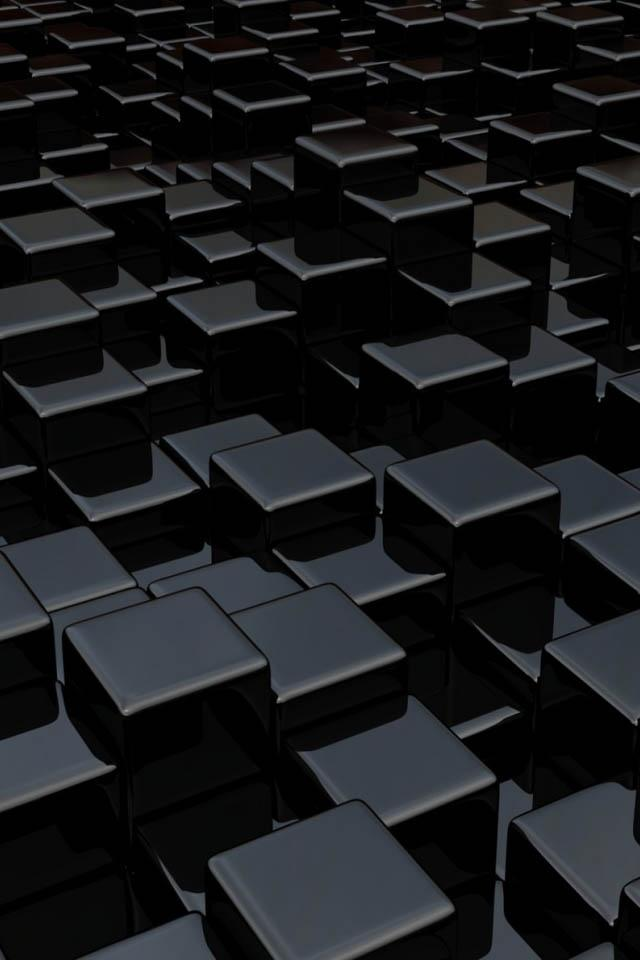 onyx cubes iphone wallpaper