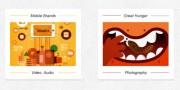 Minimalistic image holders