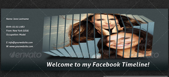 Creative 3d facebook timeline cover