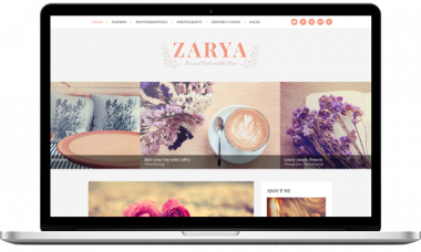 Zarya WordPress theme