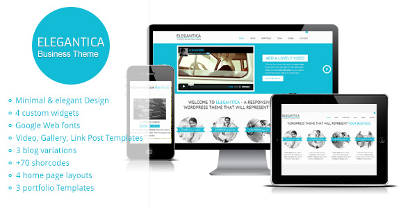 Elegantica Responsive Minimal Business WordPress Theme