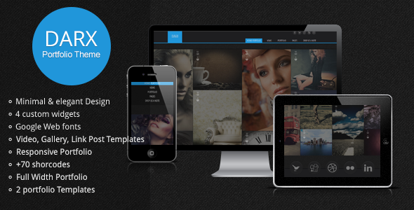 Darx responsive portfolio wordpress theme
