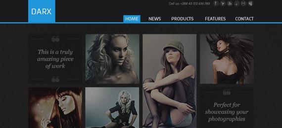 Darx - a Creative Portfolio Template (PSD)