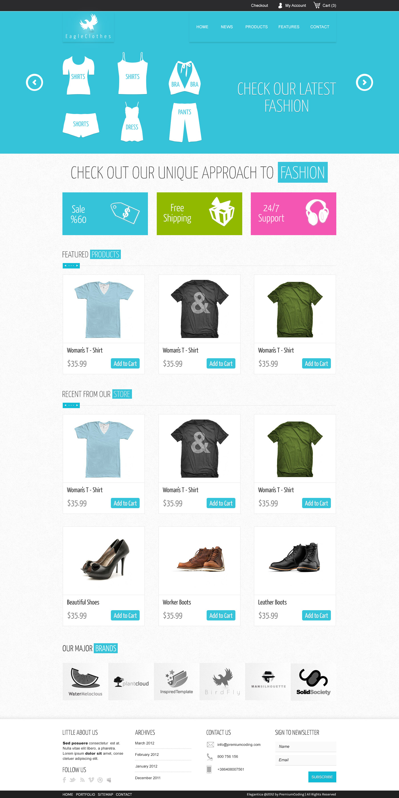 Freebie: Ecommerce Website Template (PSD) - PremiumCoding