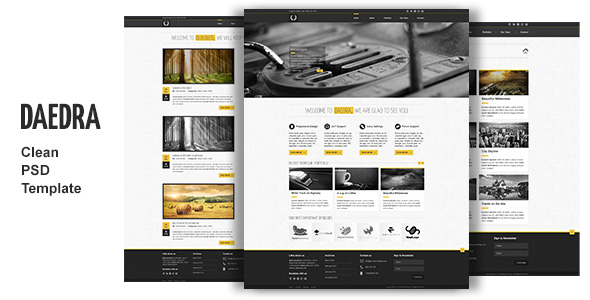 Creative Wordpress Template PSD