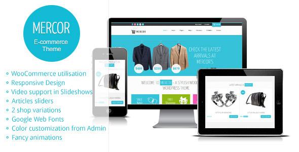 Mercor - Responsive WordPress WooCommerce Theme