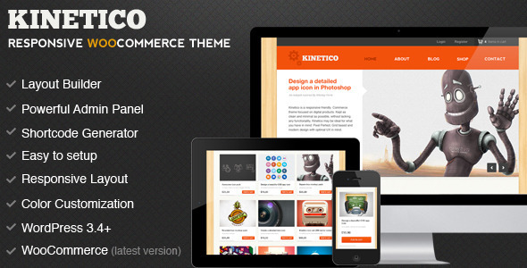 Kinetico - Responsive WordPress E-Commerce