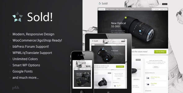 WordPress Sold Responsive ECommerce Theme