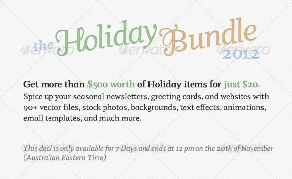 Envato holiday bundle