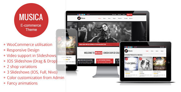 Musica Ecommerce Wordpress Theme