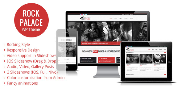 Rock Palace - a Responsive Music WordPress Theme