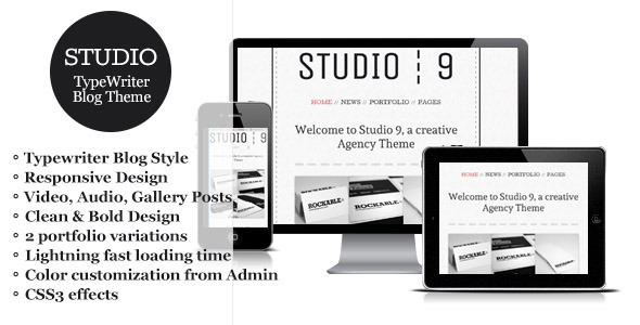 Creative Portfolio WordPress Theme: Studio 9