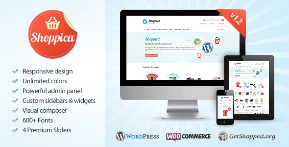 Shoppica - Responsive E-commerce WordPress Theme