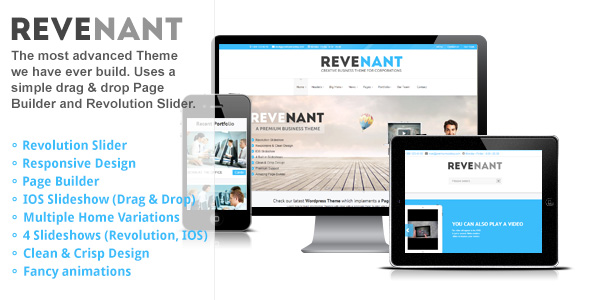 Responsive Business Wordpress Theme: Revenant