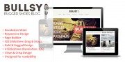 Rugged Blog Wordpress Theme: Bullsy