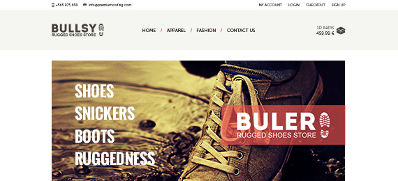 Buler Ecommerce Website PSD Template